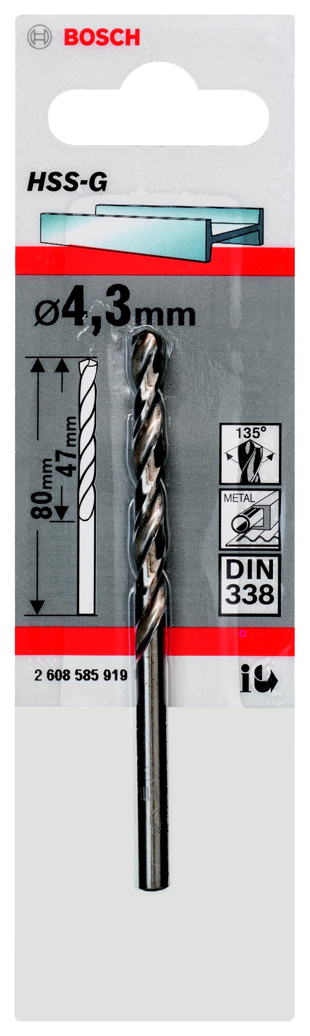 Сверло Bosch 1 hss-g (2.608.585.919) тиски механические bosch ms 80 g