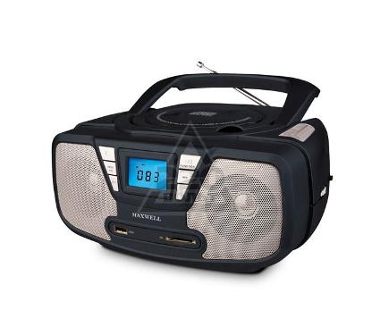 Магнитола MAXWELL Магнитола MAXWELL MW-4002(BK)  CD/MP3