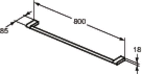 Полотенцедержатель Ideal standard E6983 от 220 Вольт