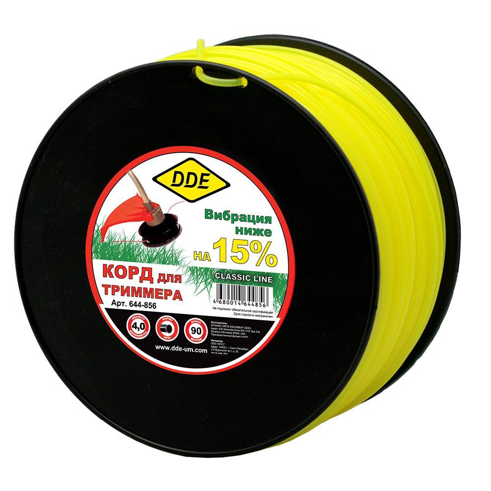 Леска для триммеров Dde 644-856 леска для триммеров dde 241 932 круг 3 0ммх240м желтый