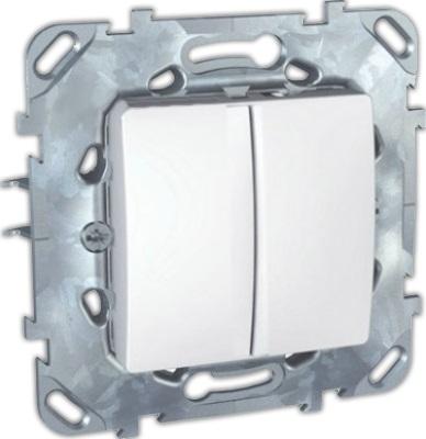 Механизм выключателя Schneider electric Mgu5.211.18zd unica механизм розетки компьютерной с у schneider electric unica бежевый