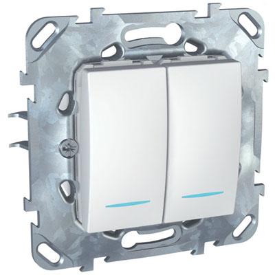 Механизм выключателя Schneider electric Mgu5.0101.18nzd unica механизм выключателя двухклавишного schneider electric unica с у бежевый