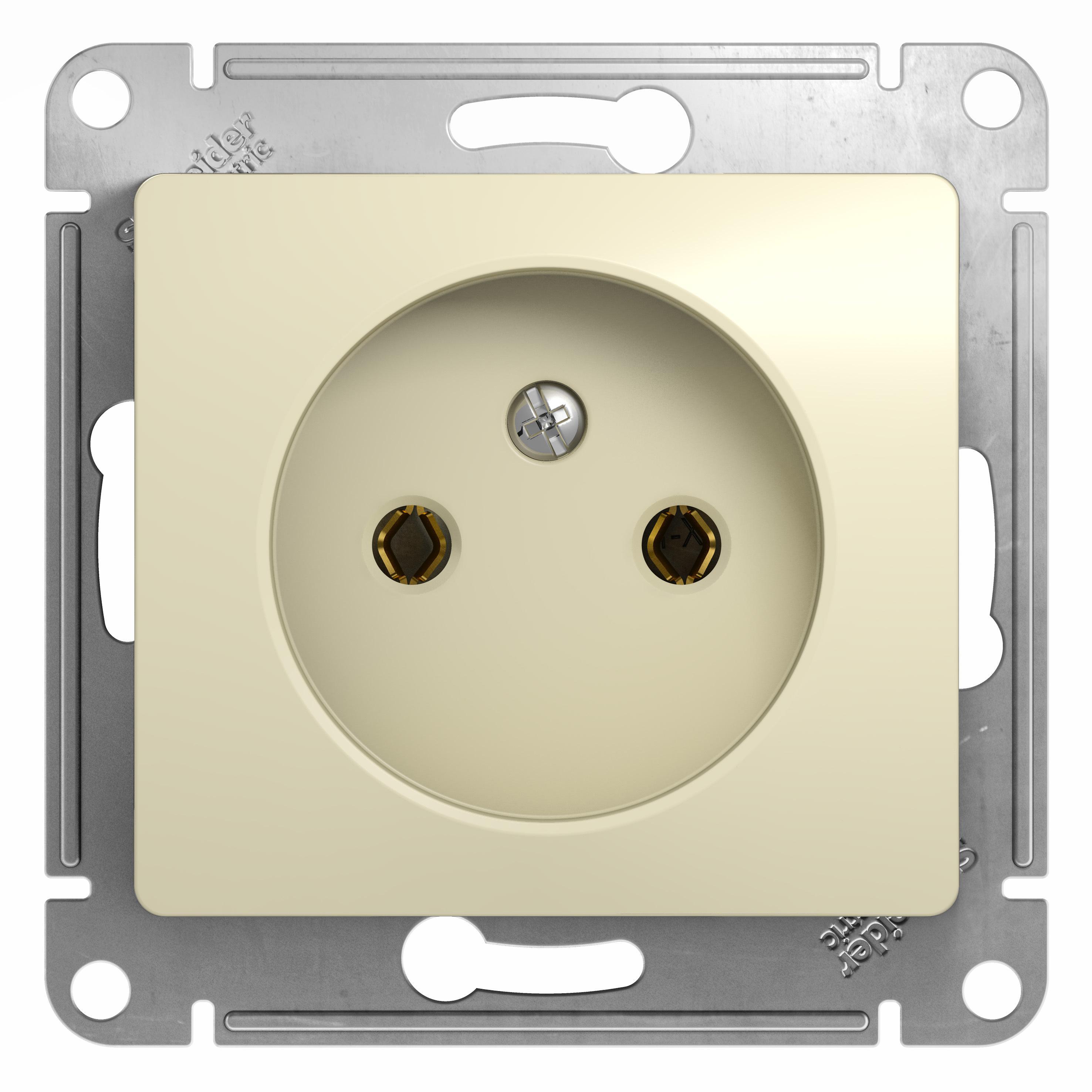Механизм розетки Schneider electric Gsl000241 glossa механизм выключателя schneider electric glossa белый 1 клавишный с подсветкой gsl000113