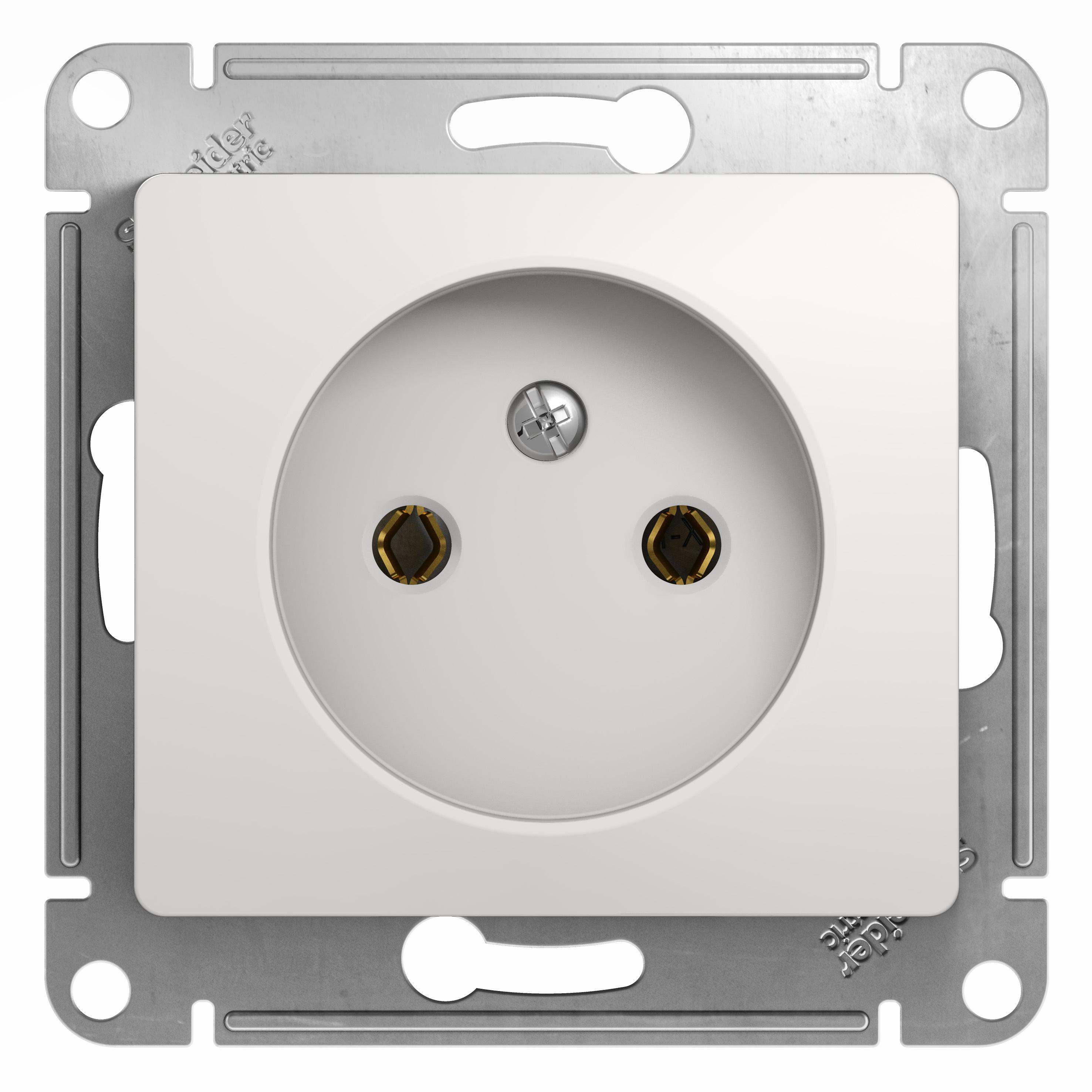 Механизм розетки Schneider electric Gsl000141 glossa панель лицевая schneider electric actassi 1 модуль белый 24 шт vdi88240