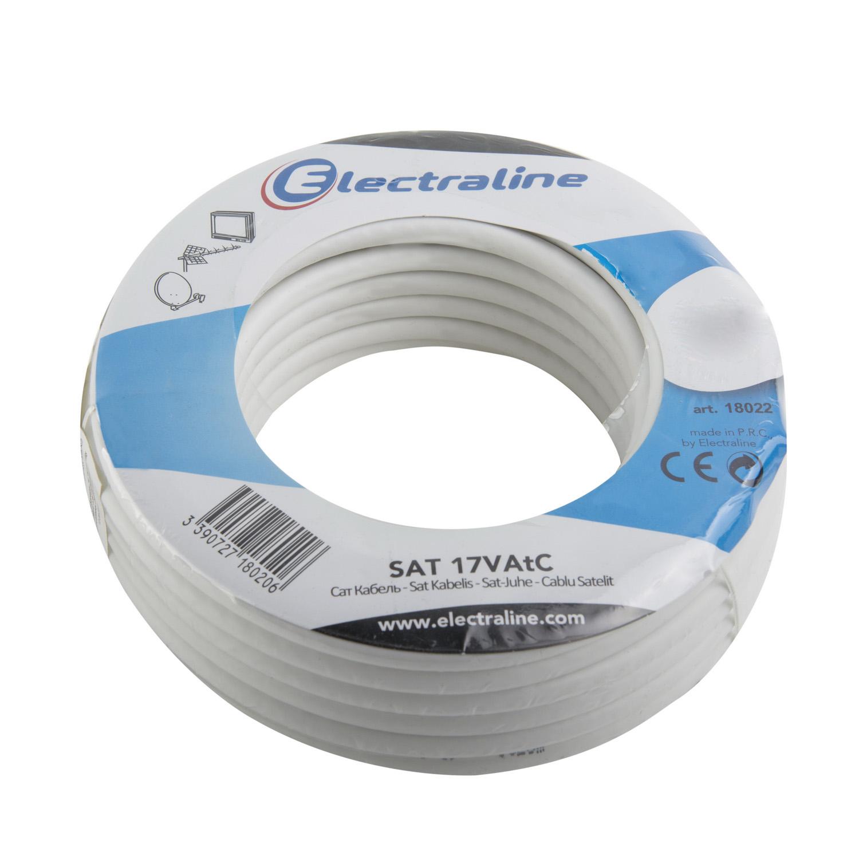 Кабель Electraline 18022 антенный кабель 17vatc луженная медь аналог sat 752 electraline 18024