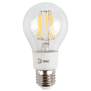 Лампа светодиодная ЭРА F-led a60-5w-827-e27 (10/50/1200) эра f led a60 e27 5w 230v желтый свет