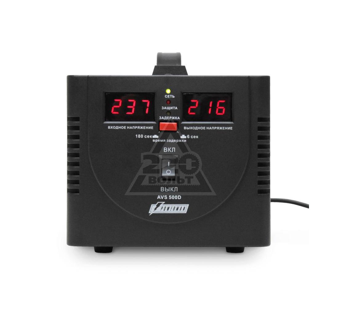 Стабилизатор напряжения POWERMAN AVS 500D black