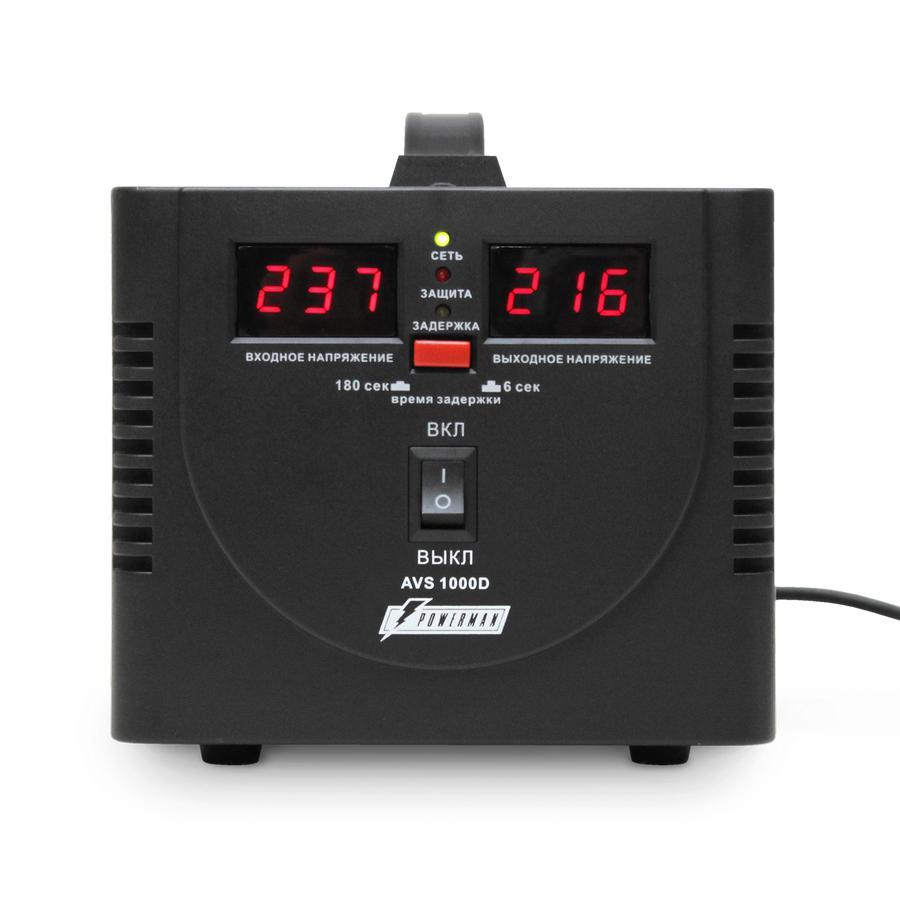 Купить Стабилизатор напряжения Powerman Avs 1000d black