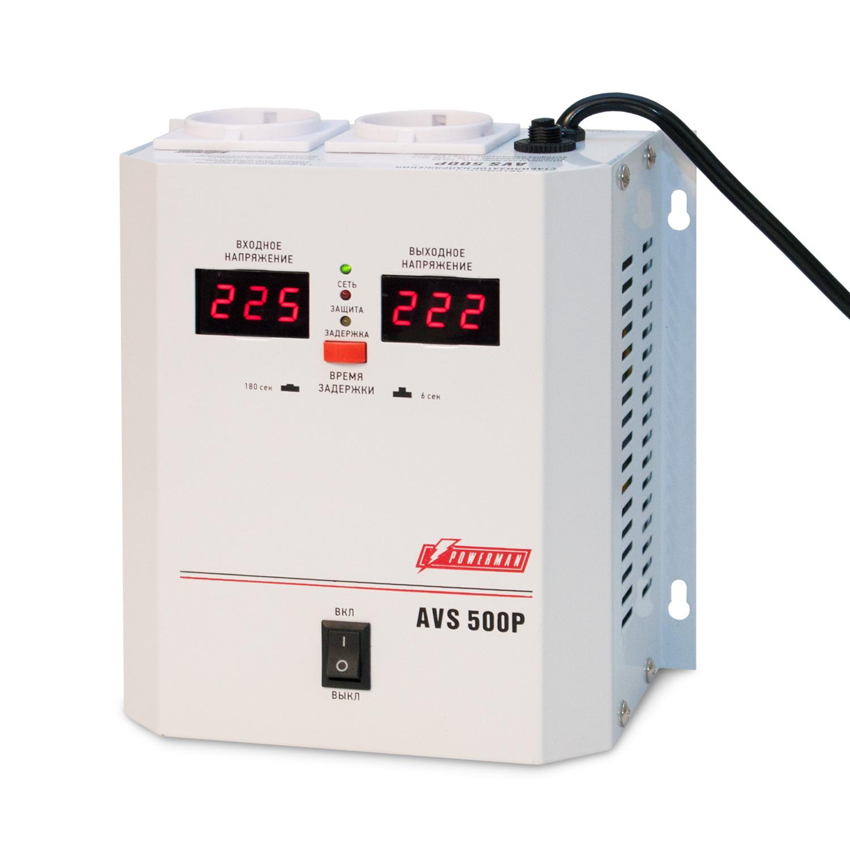 Стабилизатор напряжения Powerman Avs 500p стабилизатор напряжения powerman avs 15000d avs 15000d
