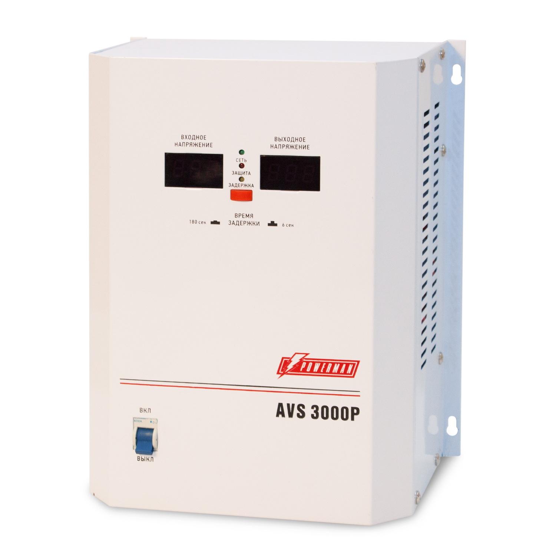 Стабилизатор напряжения Powerman Avs 3000p стабилизатор напряжения powerman avs 15000d белый