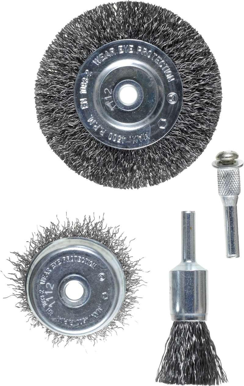 Набор кордщеток Kwb 2шт. для дрели гофрированная сталь (5975-00)