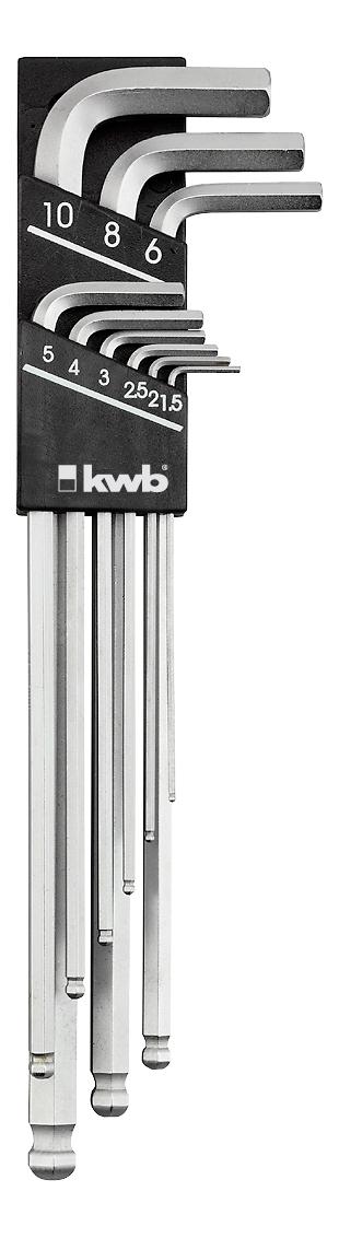 Набор шестигранных ключей Kwb 1476-00 имбусовые ключи 1 5 10мм 9шт kwb 1476 00