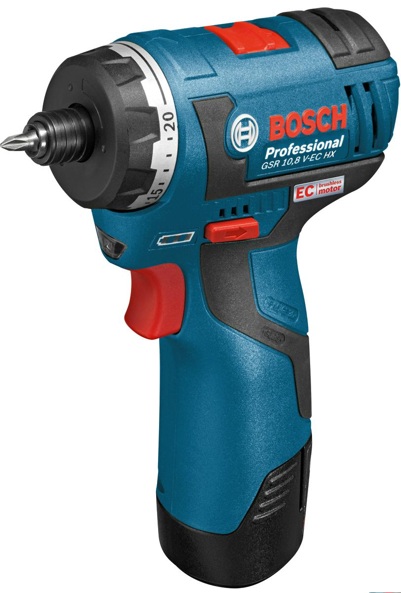 Шуруповерт аккумуляторный Bosch Gsr 10.8 v-ec hx (0.601.9d4.100) аккумуляторный ударный гайковерт bosch gds 18 v ec 250 professional 0 601 9d8 102
