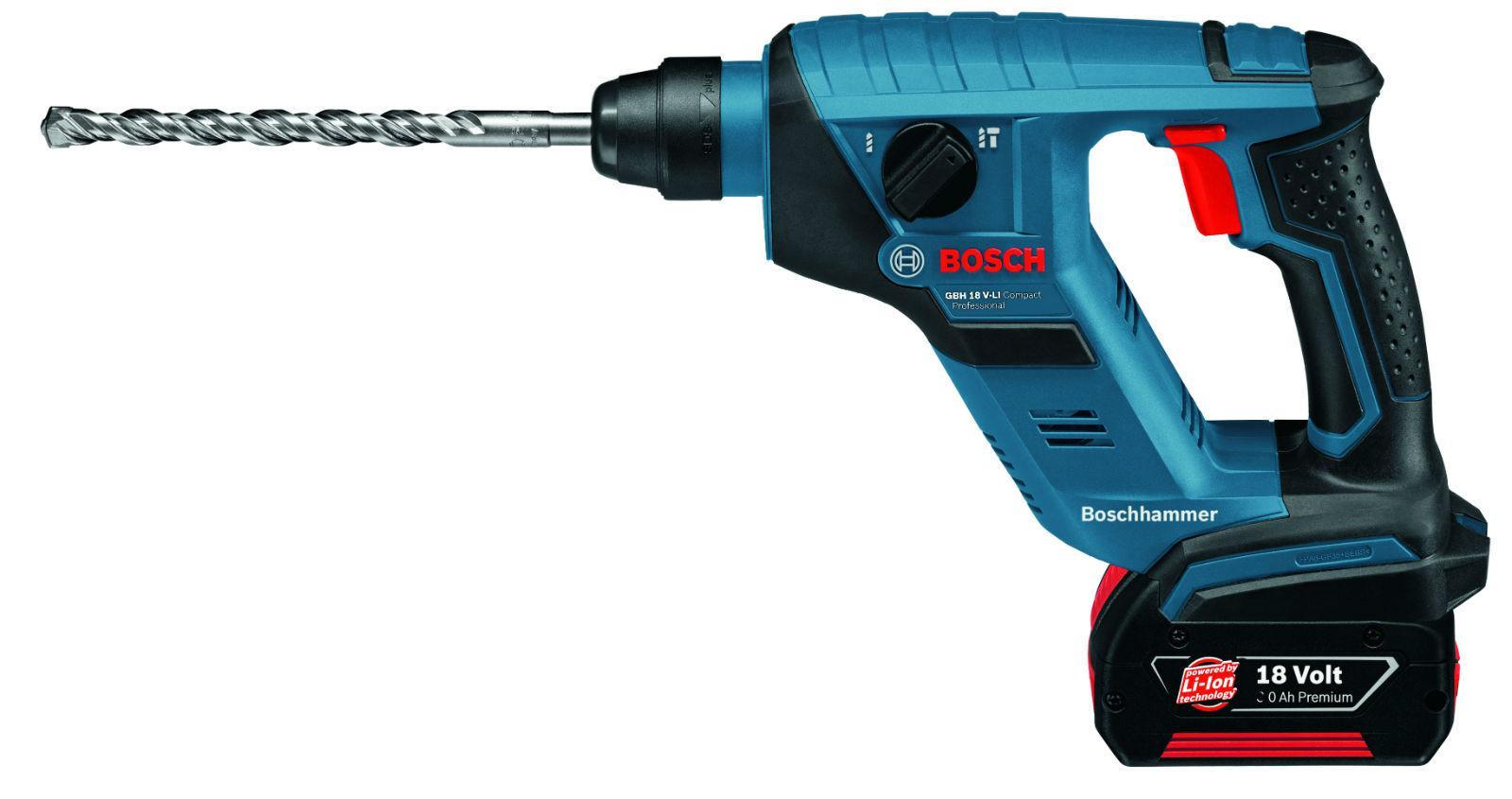 Перфоратор Bosch 611905300 gbh 18 v-li compact (0.611.905.300) набор bosch перфоратор gbh 18 v ec 0 611 904 002 адаптер gaa 18v 24
