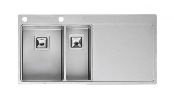 Мойка кухонная Reginox Nevada 30x18 lux okg right (c/box) l мойка кухонная reginox orlando lux okg box