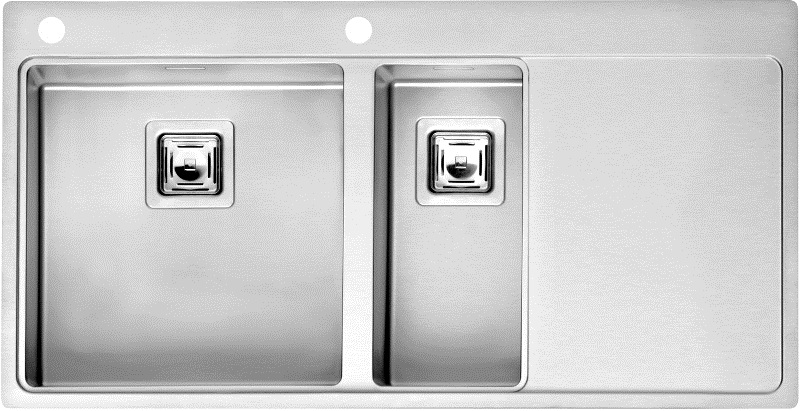 Мойка кухонная Reginox Nevada 40x18 lux okg right (c/box) l мойка кухонная reginox orlando lux okg box