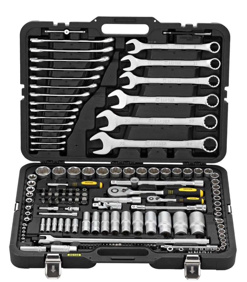 Набор инструментов универсальный Berger Bg148-1214 набор инструментов для автомобиля универсальный 76 предметов