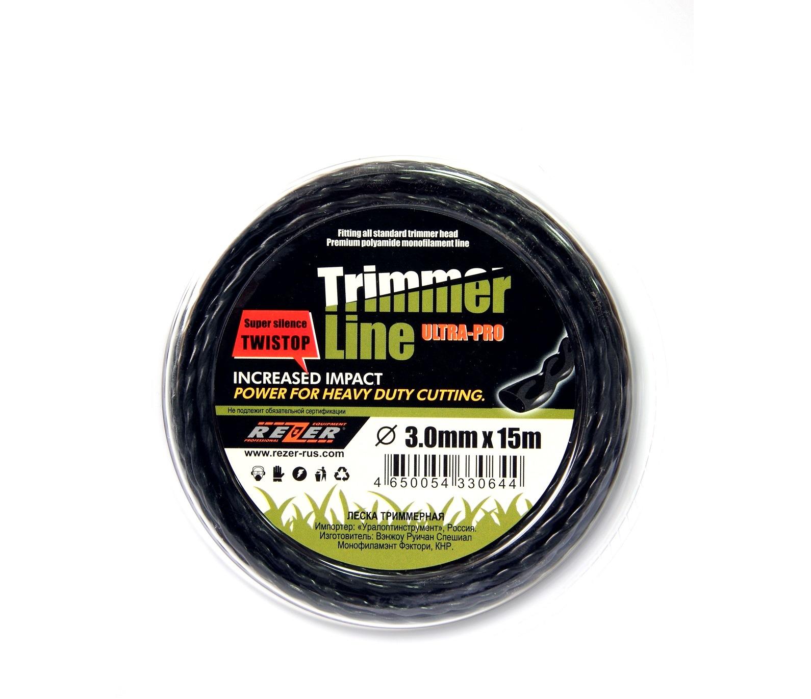 Леска для триммеров Rezer Ultra-pro «twistop»