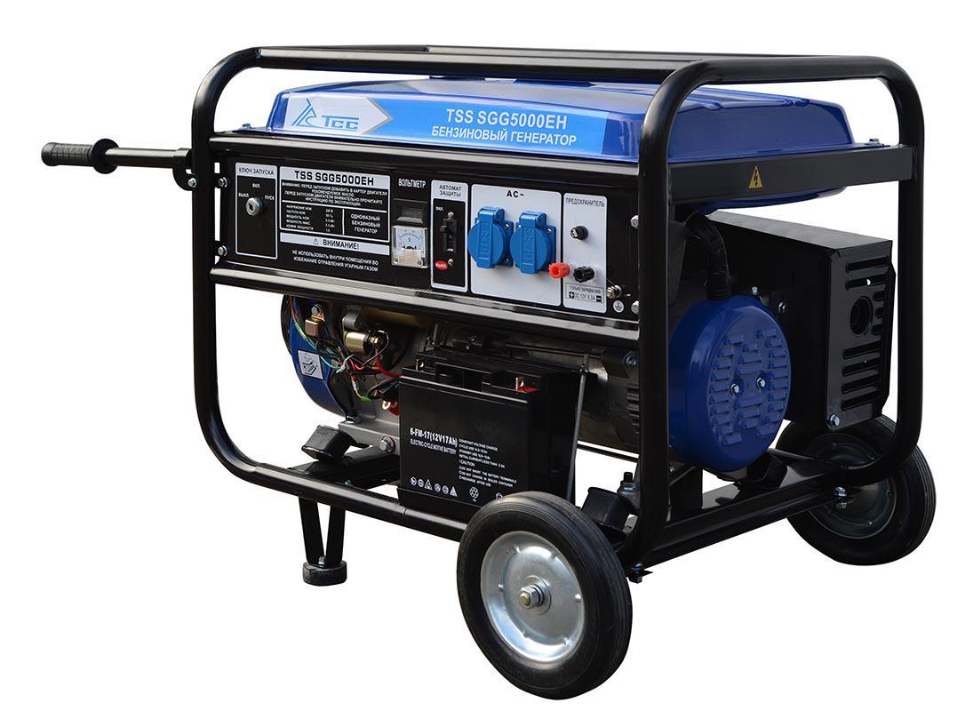 Бензиновый генератор ТСС Sgg 5000 eh генератор бензиновый tss sgg 7500e