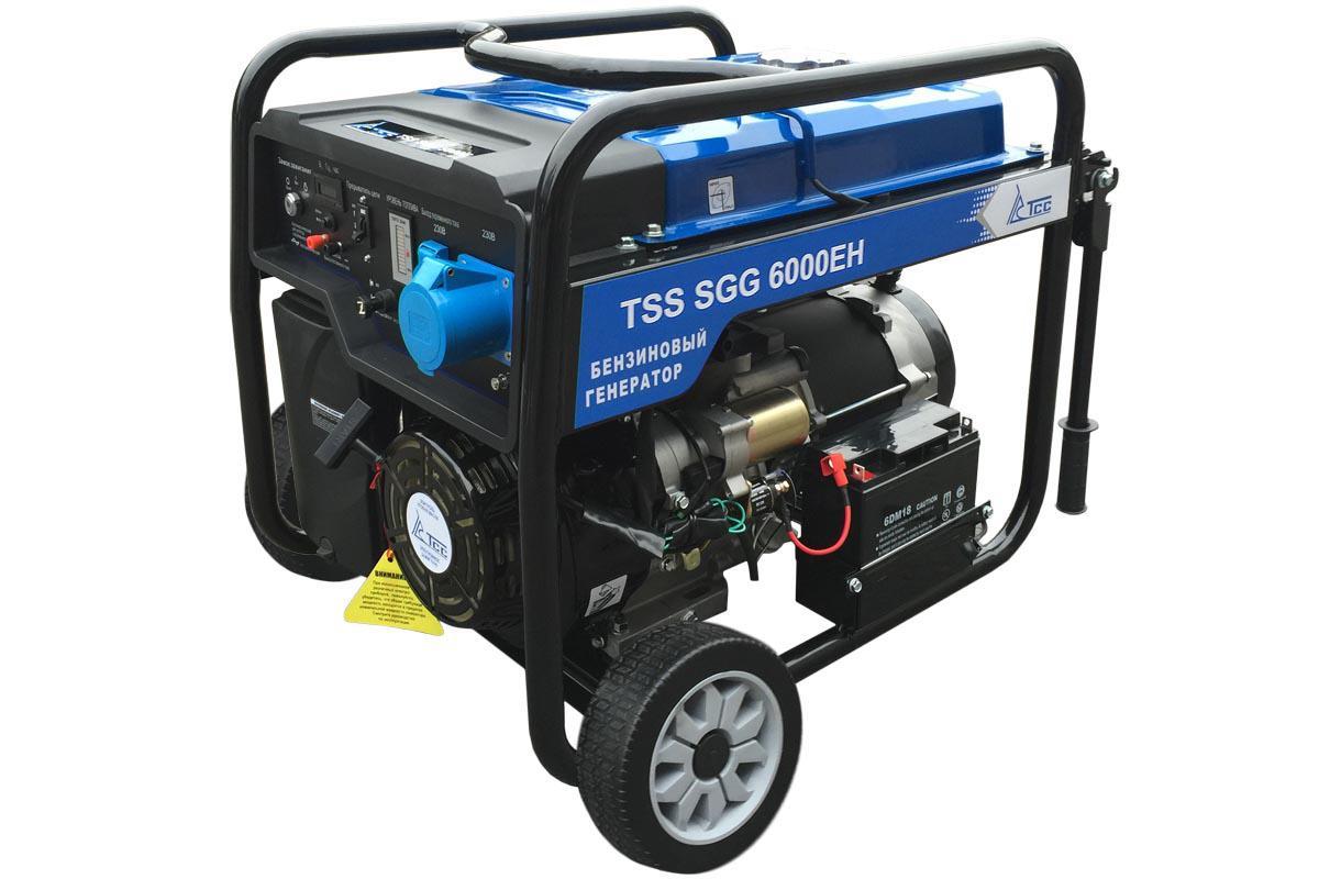 Бензиновый генератор ТСС Sgg 6000eh виброплита тсс tss vp60s 207246