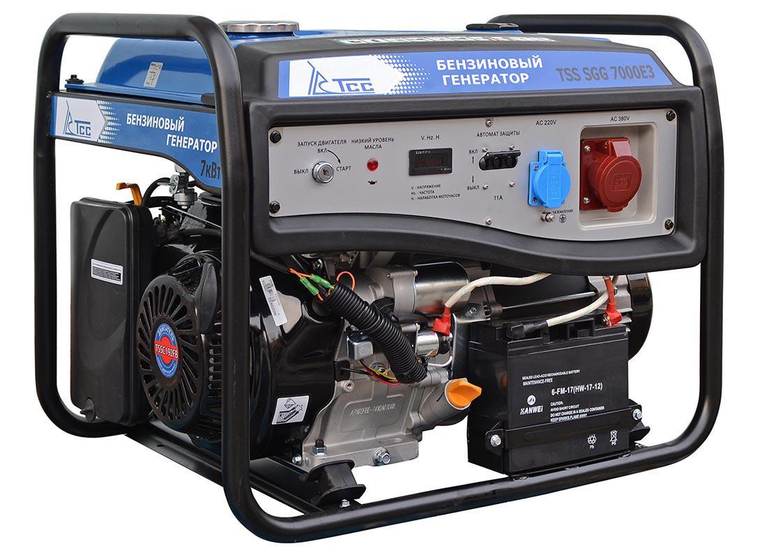 Бензиновый генератор ТСС Sgg 7000e3 генератор бензиновый tss sgg 5000eh