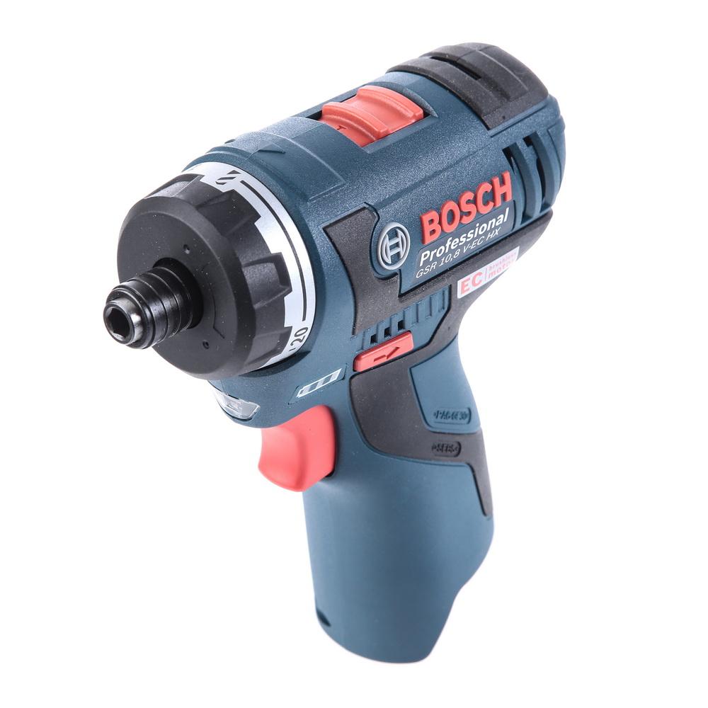 Шуруповерт аккумуляторный Bosch Gsr 10.8 v-ec hx (0.601.9d4.102) гайковерт bosch gsr 18 v ec fc2 06019e1105
