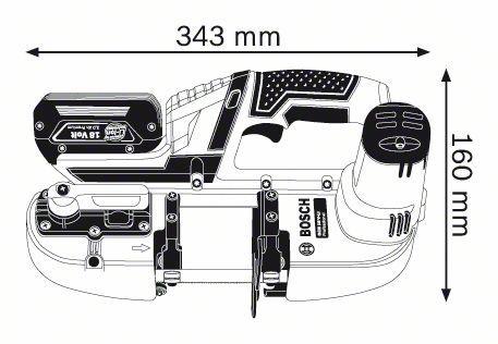 Пила ленточная Bosch Gcb 18 v-li (0.601.2a0.300)