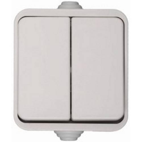 Выключатель СВЕТОЗАР Sv-54334-w двухклавишный выключатель светозар аврора sv 54336 w