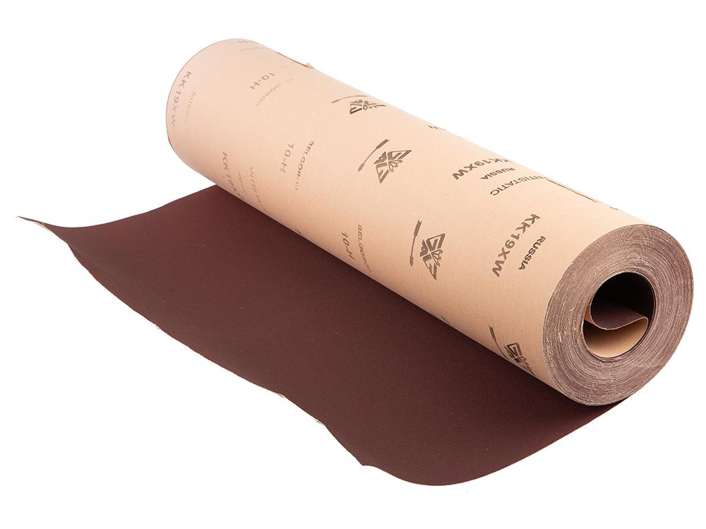 Шкурка шлифовальная в рулоне БЕЛГОРОД N10 (p120) рулон 775мм 30м 402 полиэстер швейных ниток шнуры для ткани или поделок судов зелено жёлтые 0 1 мм около 120 м рулон 10 рулонов мешок