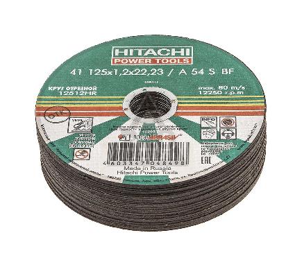 Круг отрезной HITACHI А24 125 Х 1,2 Х 22 по металлу 25шт