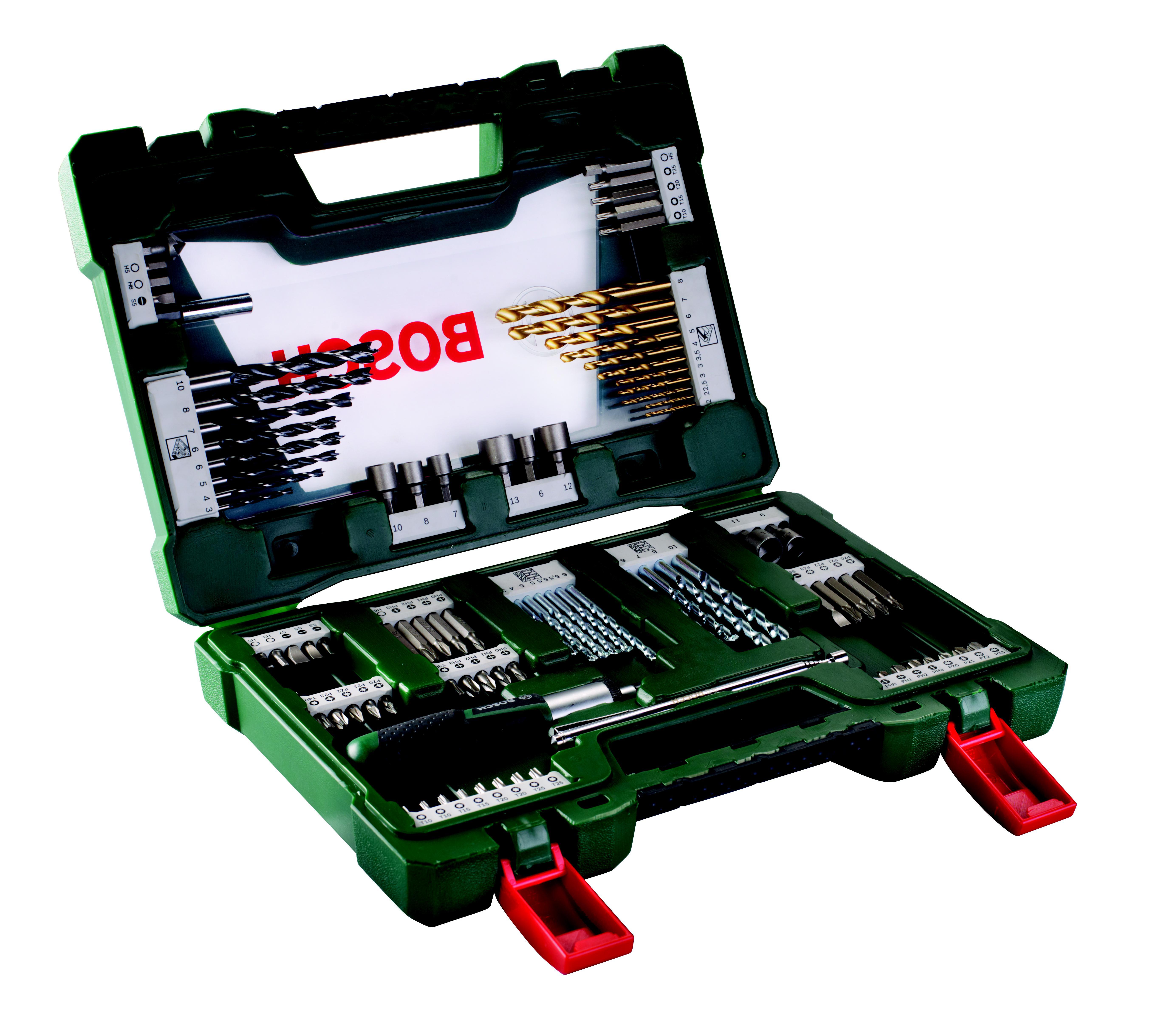 Набор бит и сверл Bosch V-line-91 91шт (2.607.017.195) цена и фото
