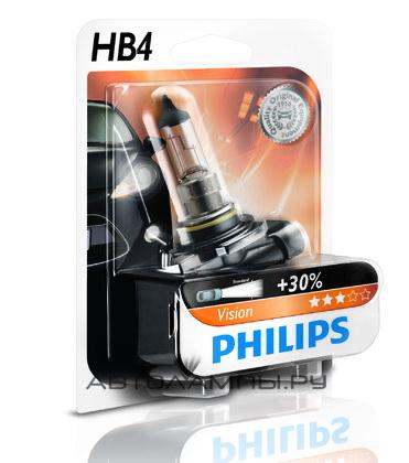 Лампа автомобильная Philips 9006prb1 (бл.) галогенная лампа philips hb4 p22d blue vision ultra
