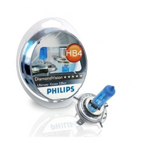 Автолампа Philips Hb4/9006 (55) p22d diamond vision 5000k (2шт) 12v /1/5