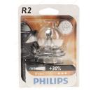 Автолампа PHILIPS R2 (45/40) P45t-41+30% Vision (блистер) 12V 1/10/100