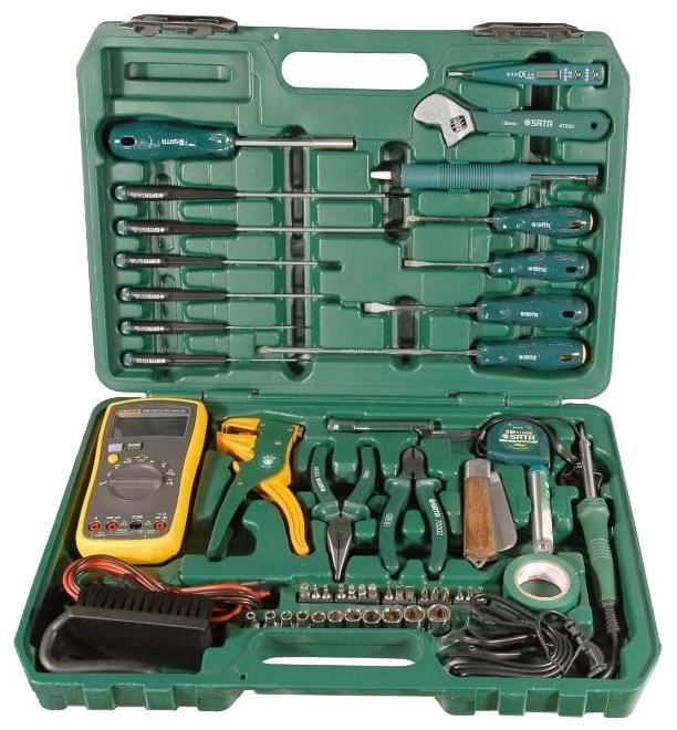 Набор инструментов универсальный Sata 09535 набор инструментов sata 53пр для электротехнических работ 09535