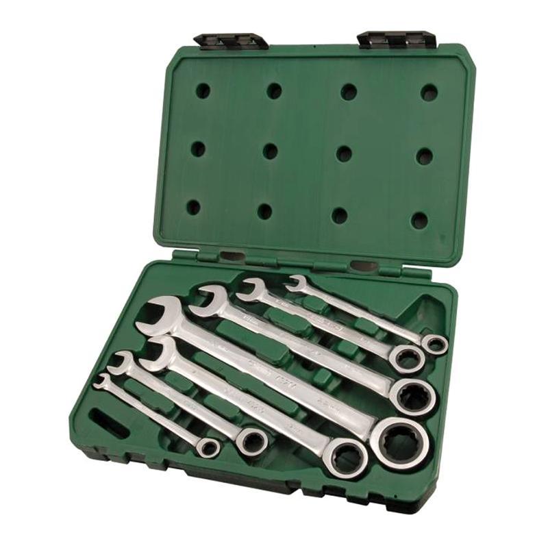 Набор гаечных ключей Sata 09050 (8 - 22 мм) набор ключей sata 09033 7пр комбинированные укороч metric пласт кор