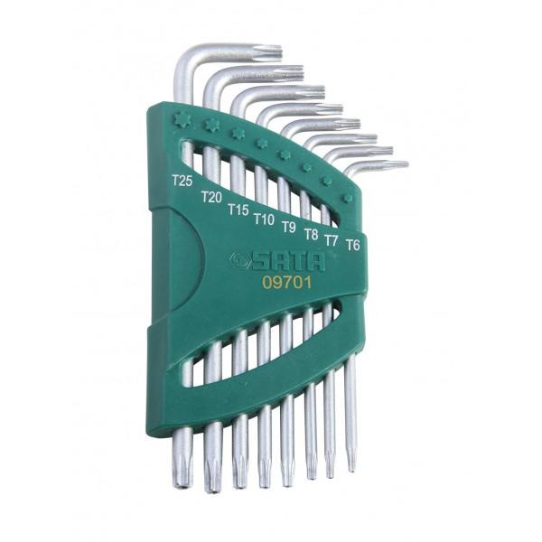 Набор шестигранных ключей Sata 09701 набор ключей sata 11пр 08023