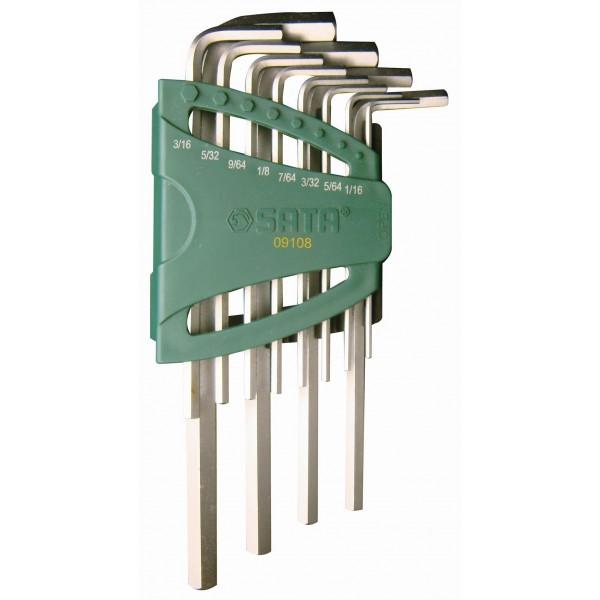 Набор шестигранных ключей Sata 09108 набор ключей sata 5пр 09083