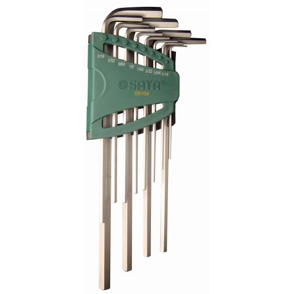 Набор шестигранных ключей Sata 09104 набор накидных ключей глубокого смещения 11шт sata 08023