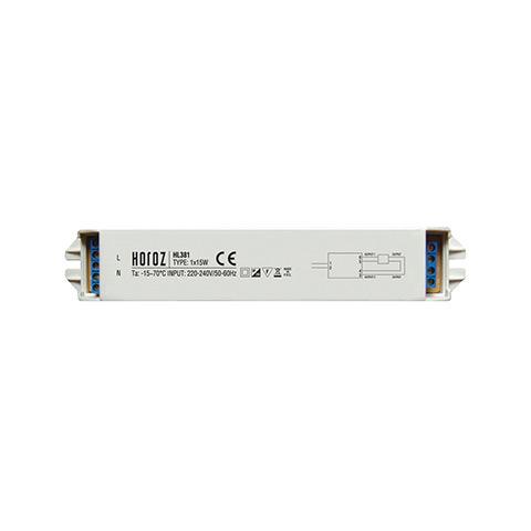 ЭПРА Horoz electricАксессуары для электромонтажа<br>Тип аксессуара: ЭПРА,<br>Степень защиты от пыли и влаги: IP 20,<br>Максимальная подключаемая мощность: 15,<br>Напряжение: 220-240<br>
