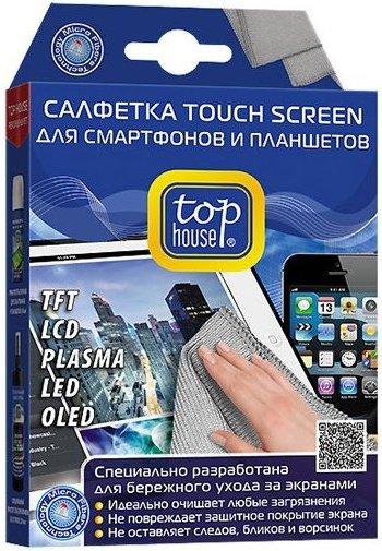 Салфетка Top house 391589 очиститель top house д экранов смартфонов и планшетов аэроз