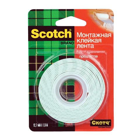 Лента монтажная 3М Scotch 12мм х 1,9м пленка тонировочная limo 10% 0 75м х 3м