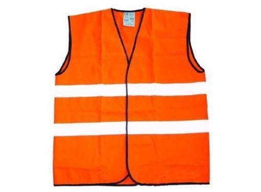 Сигнальный жилет NO NAME оранжевый 2 полосы