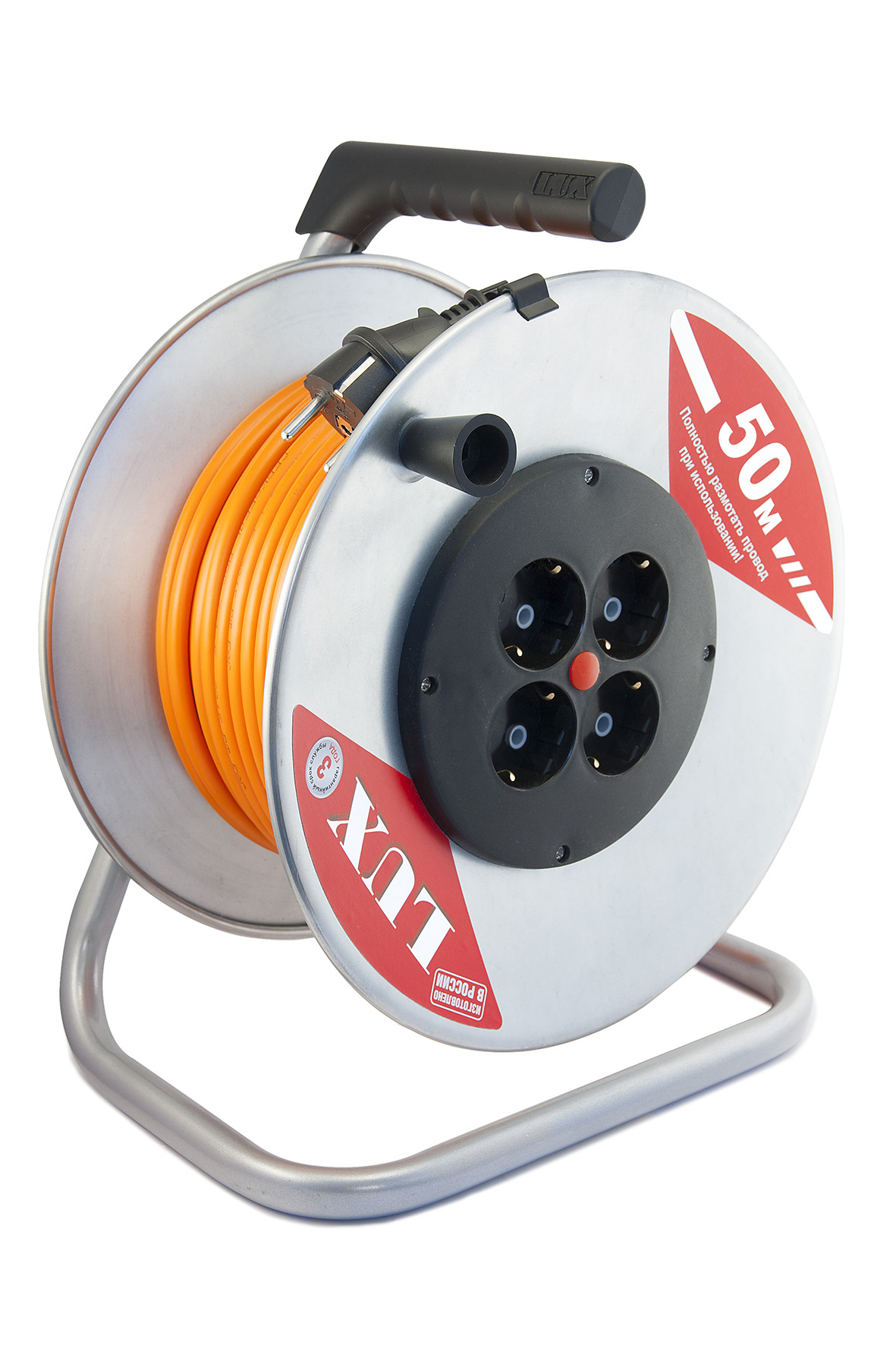 Удлинитель Lux 40150 К4-Е-50 ПВС силовой удлинитель на катушке к1 0 25 lux 4606400417552
