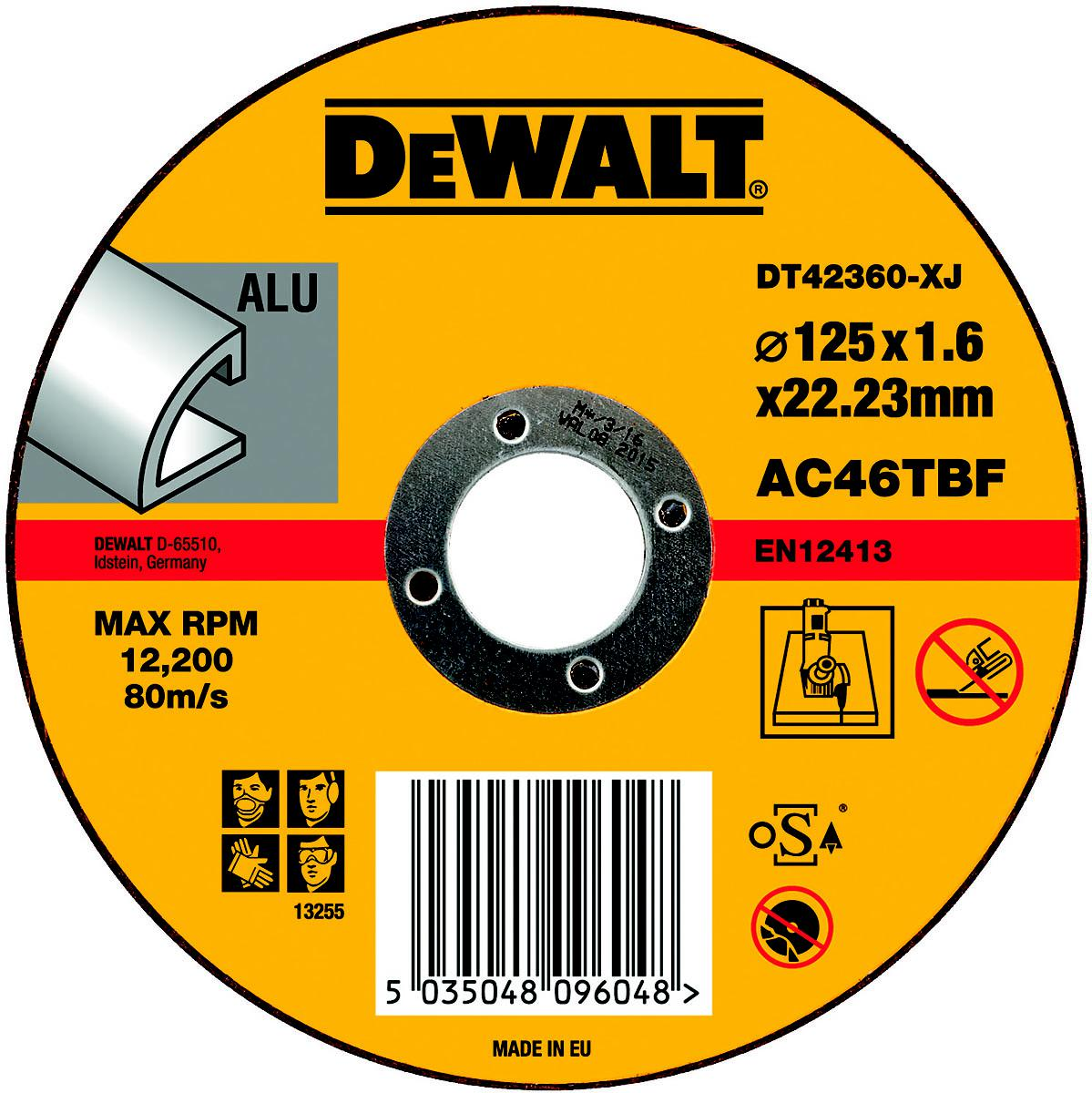 Круг отрезной Dewalt 125х1.6х22 dt42360xj dewalt d28493