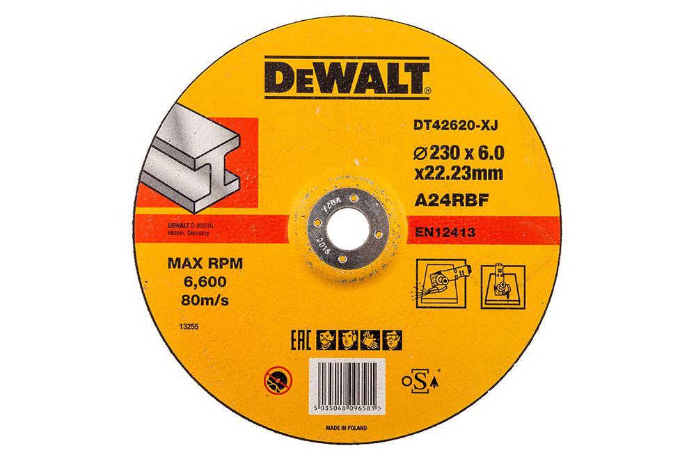 Круг зачистной Dewalt 230х6х22мм блок цилиндров ehrling 6 lf14 10 230