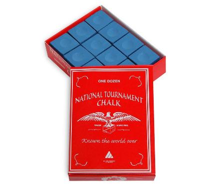 Мел SILVER CUP National Tournament Chalk Blue 12шт.