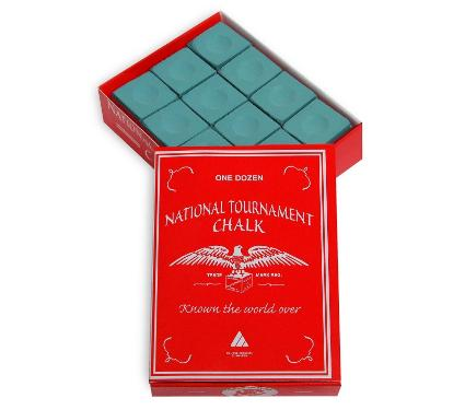 Мел SILVER CUP National Tournament Chalk Green 12шт.