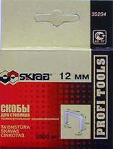 Скобы для степлера Skrab 35234  12мм 1000шт. скобы для степлера rapid 12мм тип 53 5000шт workline 11859610