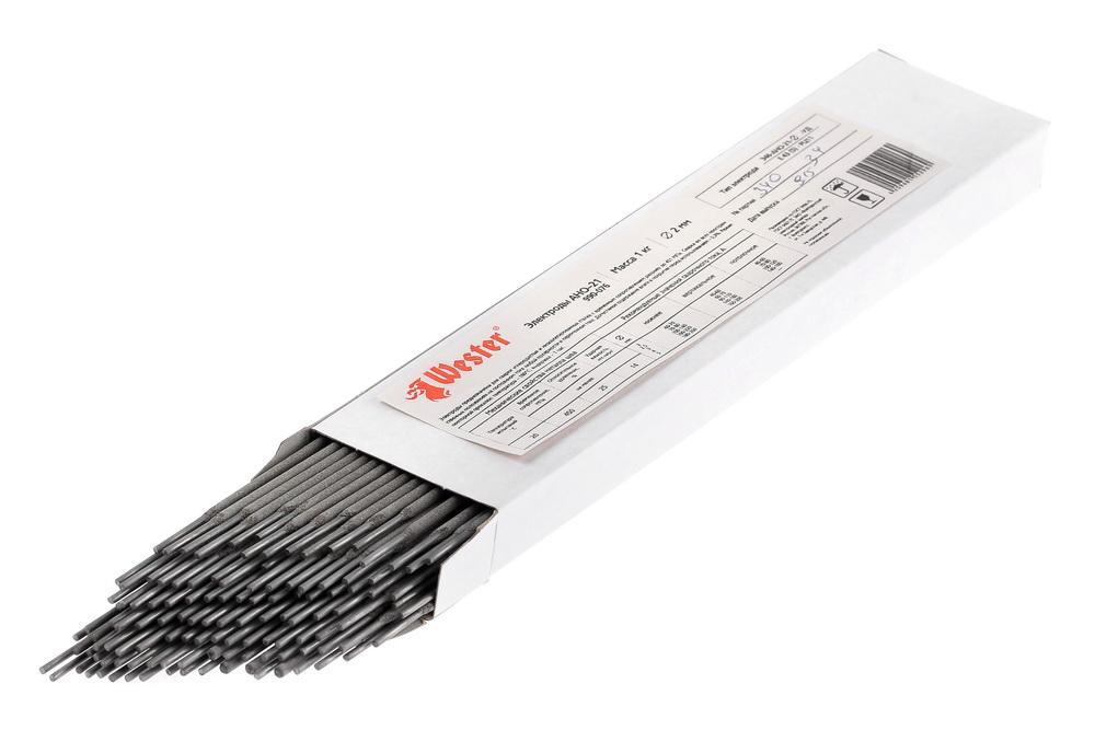 Электроды для сварки Wester АНО-21, 2.0мм, 1кг электроды для сварки wester ано 4 3 0мм 1кг
